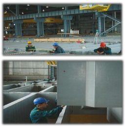 Монтаж на полимербетонни вани в нова рафинерия на Аурубис България АД. - Олопласт груп - Пирдоп